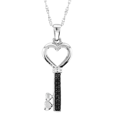 1/5 Ct.wt Diamond Fashion Key Pendant