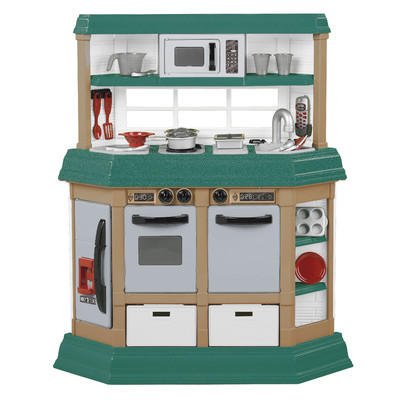 American plastic cookin kitchen tronix country for Kitchen set plastic