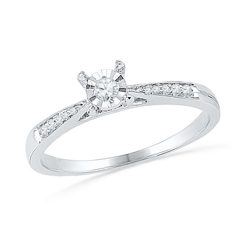 0.10 Ct.tw. Diamond Ring in 10K White Gold