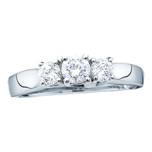 0.25 Ct.tw. Three Stone Diamond Ring 10k White Gold