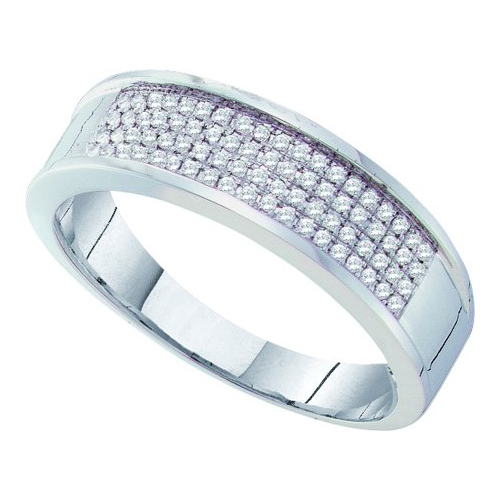 0.25 Ct.tw. Diamond Micro Pave Men's Band in 10K White Gold