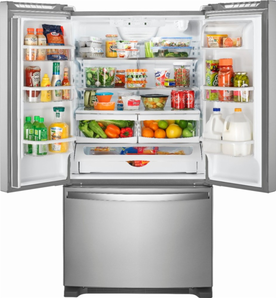 Whirlpool - 25.2 Cu. Ft. French Door Refrigerator with Internal Water Dispenser - Stainless steel
