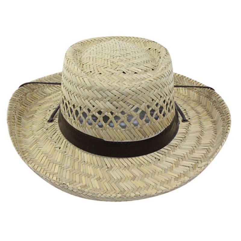 Gambler Straw Hat: Men's Gambler Straw Hat