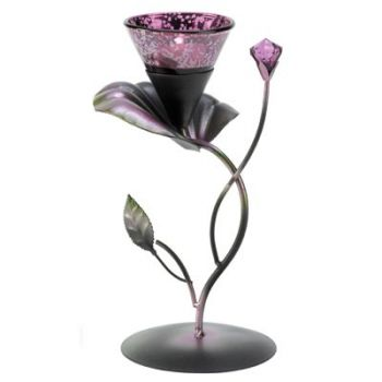 Lilac Lily Pad Tealight Holder