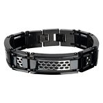 Men's Cargrill Bracelet with Black Ion Plating in Stainless Steel
