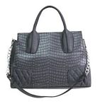 Gray Crocodile Quilted Bag