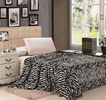 Black & White Zebra Print Microplush Blanket