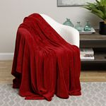 Red Solid Microplush Blanket