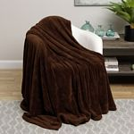 Brown Solid Microplush Blanket