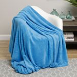 Blue Solid Microplush Blanket