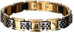 Men%27s Cargill Bracelet with Gold Ion Plating in Stainless Steel