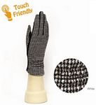 Houndstooth Print Touch Gloves