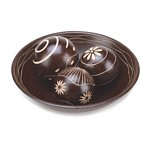 Carved Designed Bowl with Spheres
