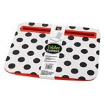Black Polka Dots Tablet Cushion