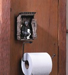 Bear Outhouse Toilet Paper Holder