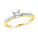 0.10 Ct.tw. Diamond Ring in 10K Yellow Gold