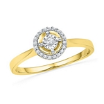 0.08 Ct.tw. Round Shape Diamond Ring in 10K Yellow Gold