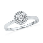0.08 Ct.tw. Round Shape Diamond Ring in 10K White Gold