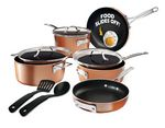 Gotham Steel - Stackmaster Stackable Non Stick Cast Textured 10pc Cooware Set