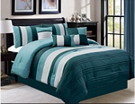 Ghazi Teal/Gray Comforter Set