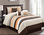 Zamora Coffee Comforter Set