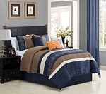 Hester Navy/Taupe Comforter Set