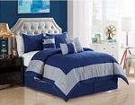 Daudi Navy/Gray Comforter Set
