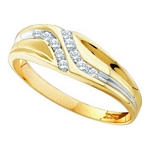 0.12 Ct.tw. Diamond Fashion Men's Band in 10K Yellow Gold