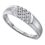 0.12 Ct.tw. Diamond Fashion Men's Band in 10K White Gold