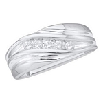0.25 Ct.tw. Diamond Fashion Men's Band in 10K White Gold