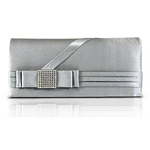Classic Satin Evening Clutch with Rhinestones