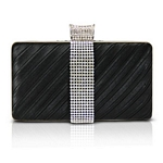 Dazzling Rectangle Clutch with Rhinestone