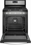 Whirlpool - 5.8 Cu. Ft. Self-Cleaning Freestanding Gas Convection Range - Stainless steel