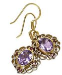 5.40 Ct.wt Brazilian Amethyst & Rhodolite Earrings