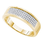 0.25 Ct.tw. Diamond Micro Pave Men's Band in 10K Yellow Gold