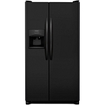 Frigidaire - 25.6 Cu. Ft. Side-by-Side Refrigerator - Black stainless steel