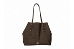 Coach Large Market Tote - Dark Nickel/Chestnut Stone