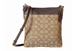 Coach Signature Messenger Crossbody - Light/Khaki/Brown
