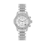 CLARA - Women%27s Giorgio Milano Stainless steel with Swarovski bezel with Roman Numbers & Date