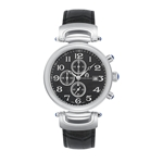 DANTE - Men%27s Giorgio Milano Stainless Steel Silver Watch with Genuine Leather Straps & Date