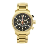 LAGUNA - Men%27s Giorgio Milano Two Tone IP Gold Stainless Steel Watch with Three Dials & Date