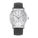 OYSTER - Men%27s Giorgio Milano Stainless steel with Italian black leather straps