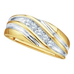 0.25 Ct.tw. Diamond Fashion Men's Band in 10K Yellow Gold