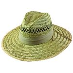 Men%27s Rush Straw Hat with Chin Cord - Khaki