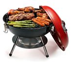"Cuisinart 14"" Charcoal Grill, Red"