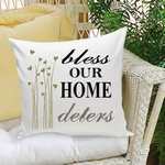 Love and Bless Our Home Throw Pillow