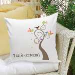 Artsy Family Tree Throw Pillow