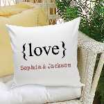 Love Text Throw Pillow