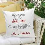 Good Night Kiss Throw Pillow
