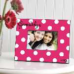 Personalized Hot Pink Polka Dot Frame